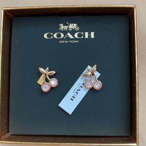 Coach cherry earrings
